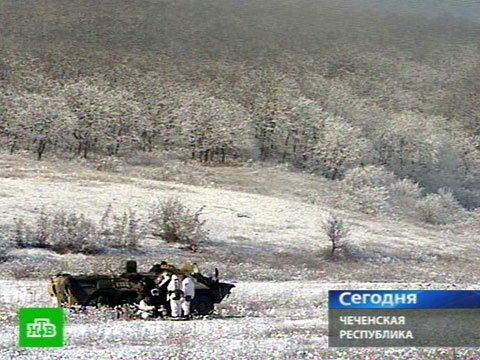 Спецоперация на границе Чечни и Дагестана, кадр телекомпаниии НТВ